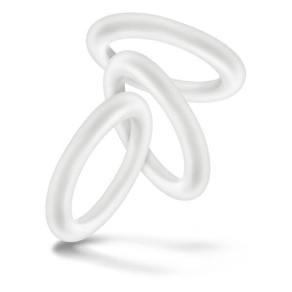 Performance Vs2 Pure Premium Silicone Cockrings Small White