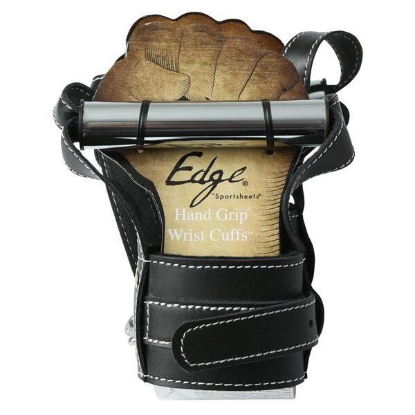 Edge Leather Hand Grip Wrist Cuffs